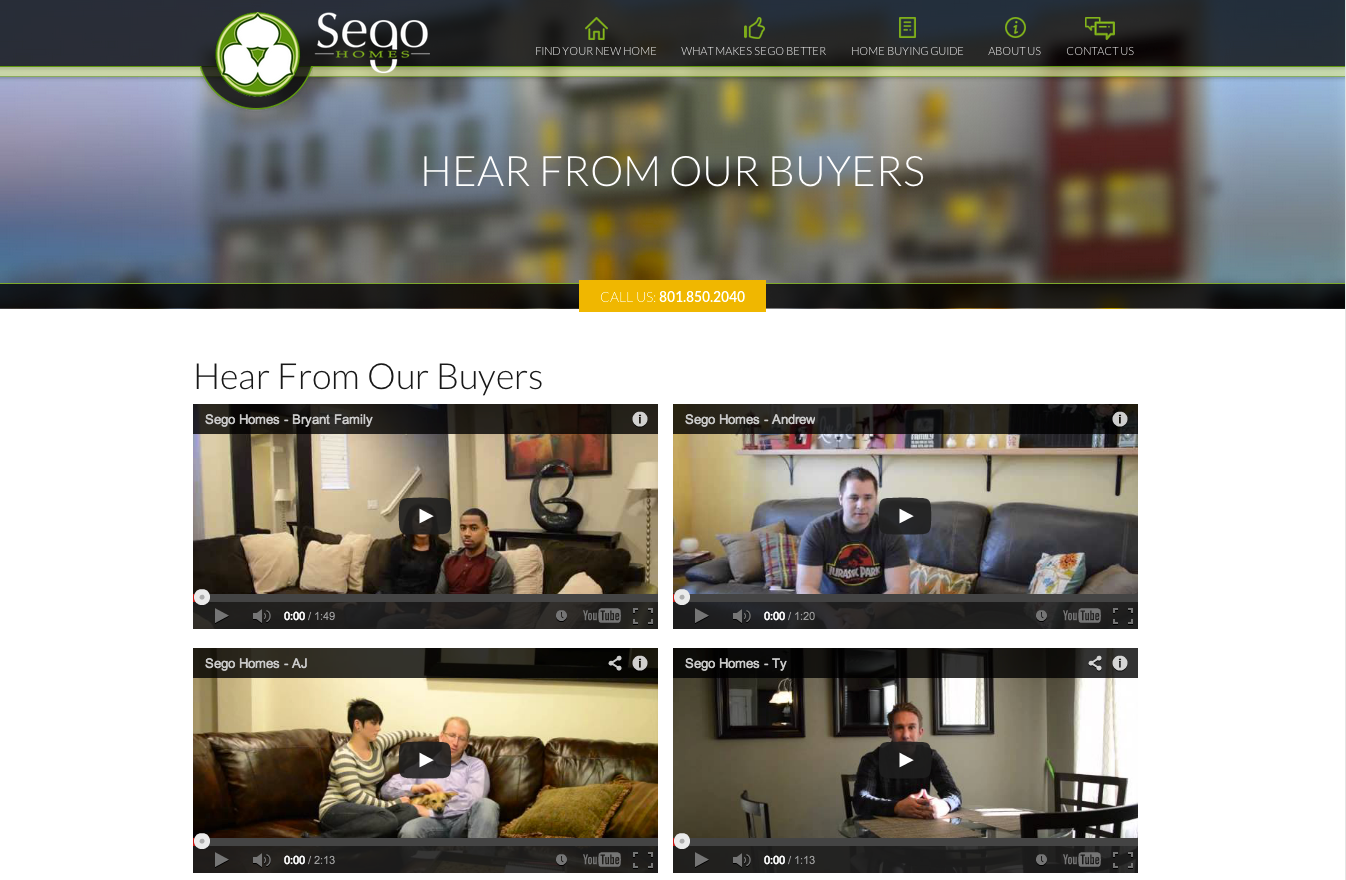 Sego homes launches new website by creating wow for Home builder website