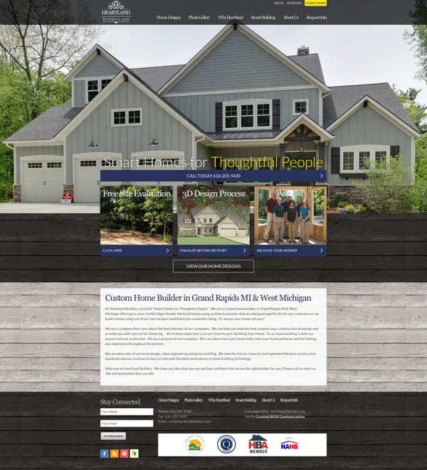 Heartland builders launches new home builder website for Heartland builders