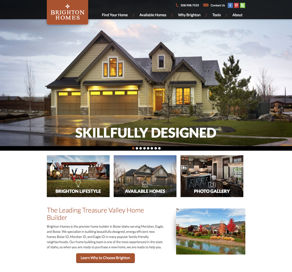 Home builder websites meredith communications for House building website