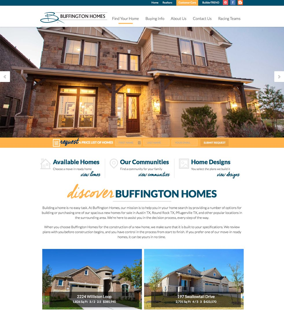 Home Builder Websites Meredith Communications