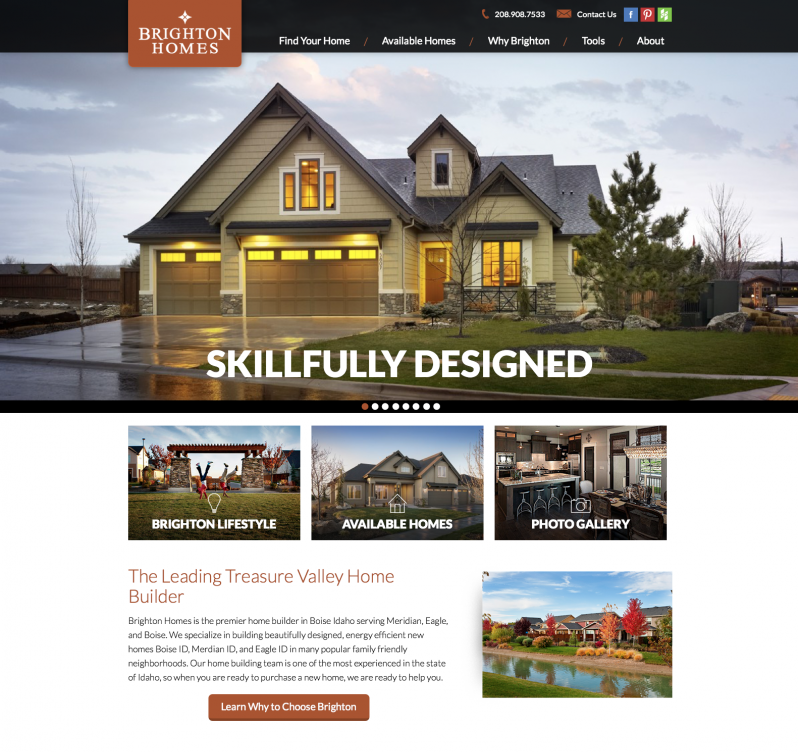 Brighton homes launches new home builder website for House building website