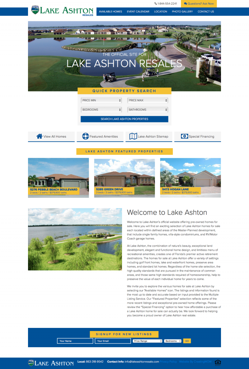 Lake Ashton Resales