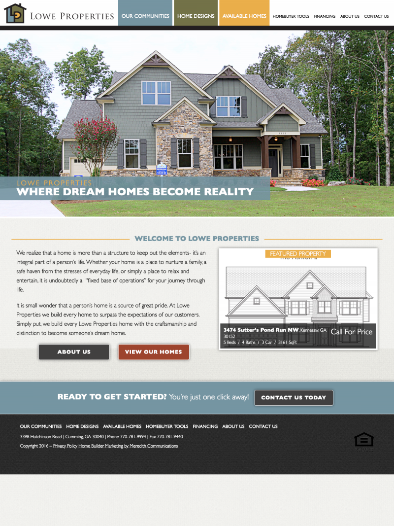 Home Builder Website Design and Marketing | Meredith Communications