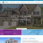 Home Builder Marketing Mondays: Level Homes Launches New Website