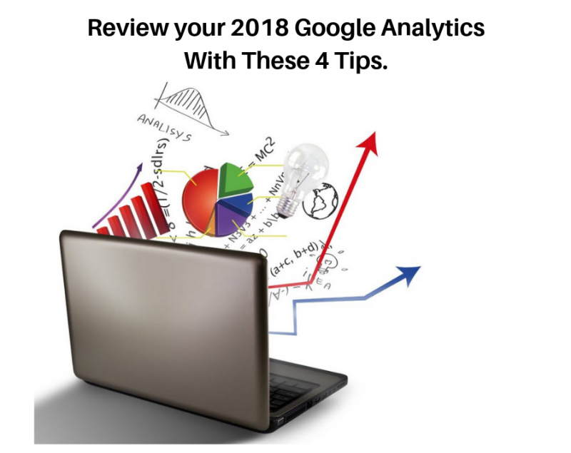 Computer with charts and analytics